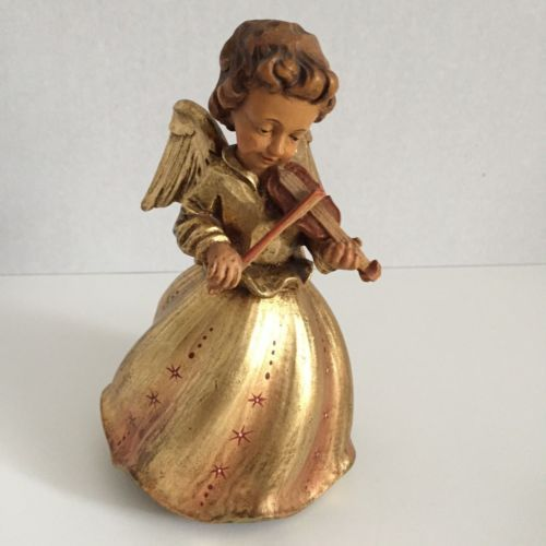 Anri-Music-Box-Gold-Angel-Rock-A-Bye-Baby-Reuge-All-Wood-Hand-Carved