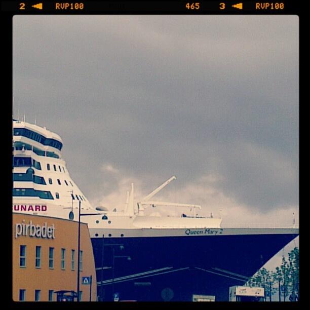 Cunard Queen Mary 2 in port of Trondheim.