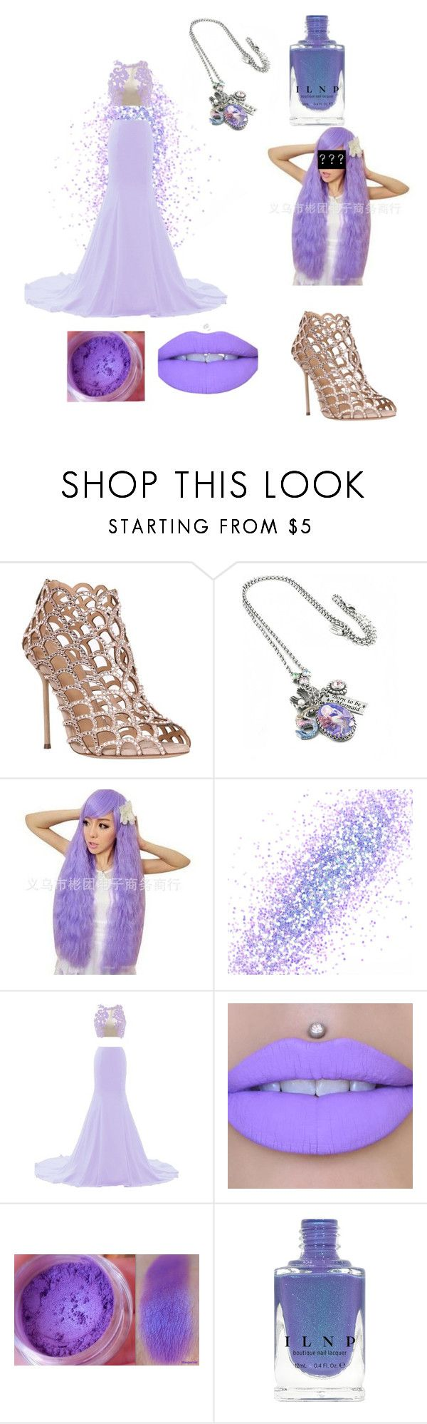 """Mermaids Swim (Collection)"" by skye-plays-too-many-video-games ❤ liked on Polyvore featuring Sergio Rossi, The Gypsy Shrine and Jeffree Star"