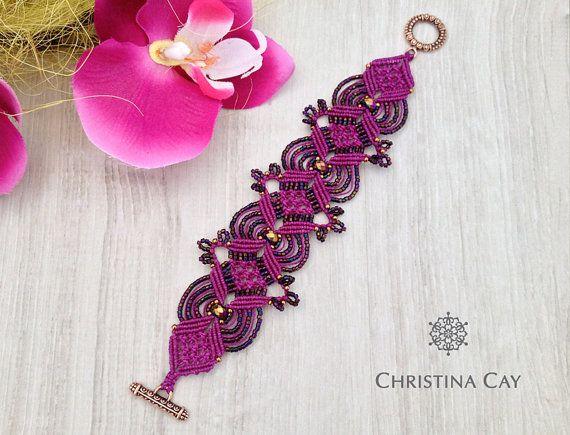 TUTORIAL PDF Micro-Macrame bracelet Florence by ChristinaCay