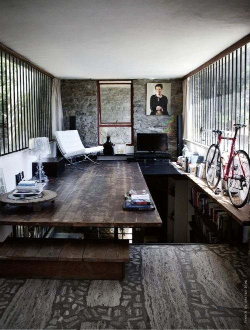 Bikes and a Barcelona chair.