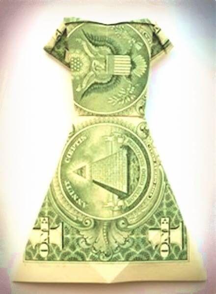 Dress Dollar Bill Origami Diagrams Illustration Of Wiring Diagram