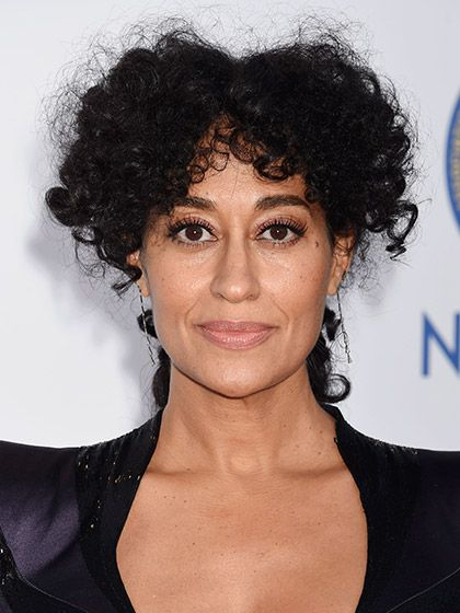 Tracee Ellis Ross makes wild, poufy bangs look red-carpet ready. To re-create this look, separate damp bangs into one-inch sections and smooth on a light styling product like Kérastase Nectar Thermique while twisting hair toward your face from root to end. Gently pull hair apart with your fingers and spritz on texturizing spray (Yepez recommends one of Oribe's or Ouai's texturizing sprays). Let it air-dry in place and pull the rest of your hair into a low ponytail.   Photo: Jeffrey…