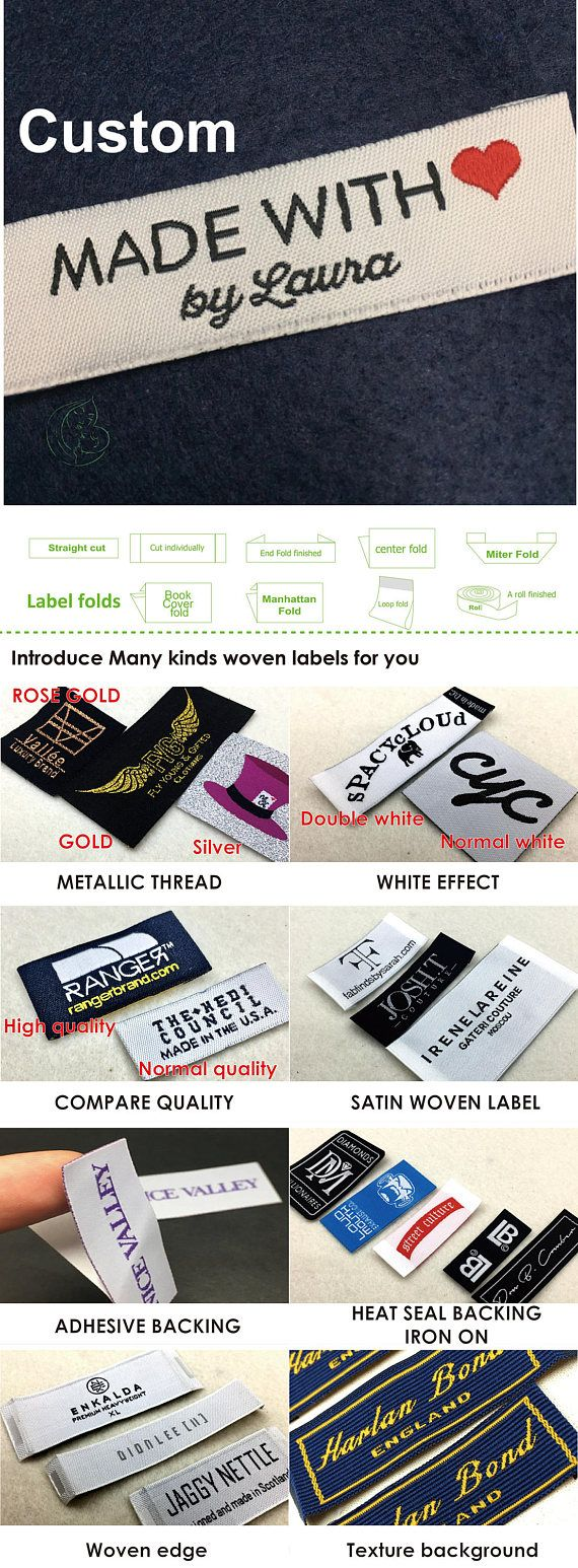 100 pcs Custom woven label, fabric cloth labels, customized woven labels for clothing, custom design label, label sew on, customized labels Sample fee just need us$5 ----------------Fast quotation---------------- Before offer the price. Get the quote simply by completing and submitting