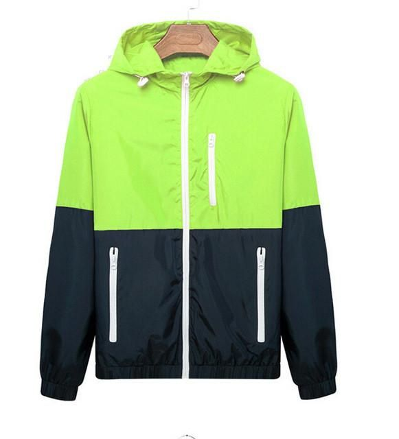2-Color Slim Nylon Jacket - Stylish