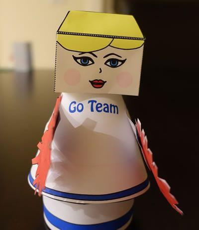 three dimensional cheerleader craft