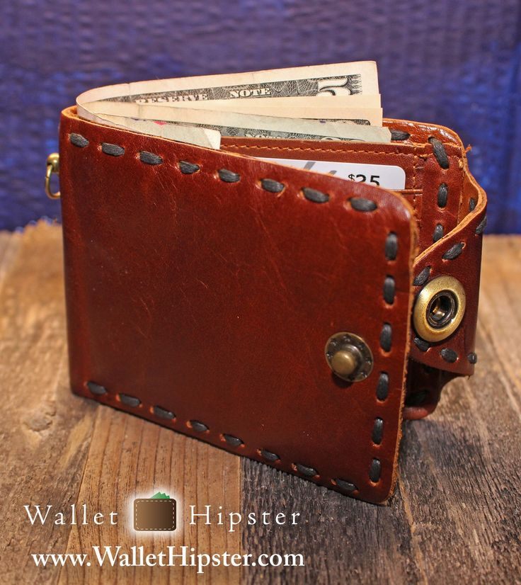 Brown Men's Bifold Snap-Close Wallet — FREE SHIPPING — Limited Quantities – Wallet Hipster