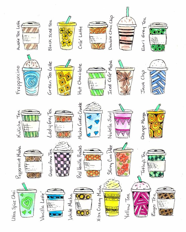 © Blue Chair Diary Illustrations.  A to Z Lattes. (scanned version) :)