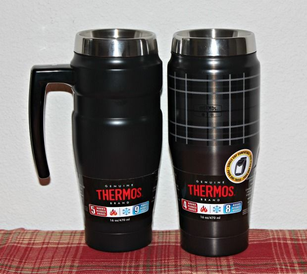Genuine Thermos Brand Heritage Plaid Tumblers with vacuum insulation technology, this tumbler comes in a ravishing red or a gratifying grey. Trendy and convenient, these tumblers come with a built-in tea hook will keep beverages hot for five hours and cold for 18.
