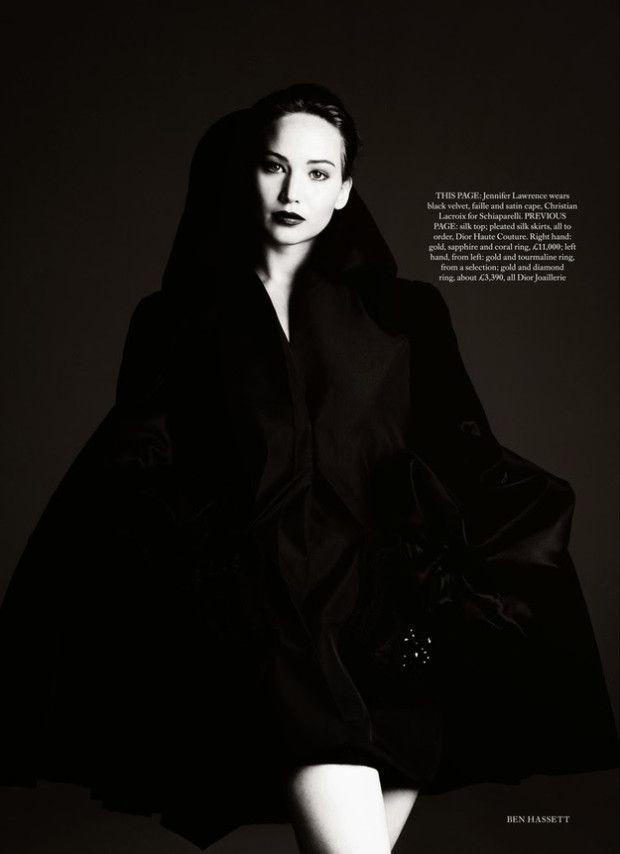 Jennifer Lawrence is a 'Reckless Beauty' in Harper's Bazaar November 2013 Issue #Jenifer Lawrence #Celebrity #Fashion #Editorial