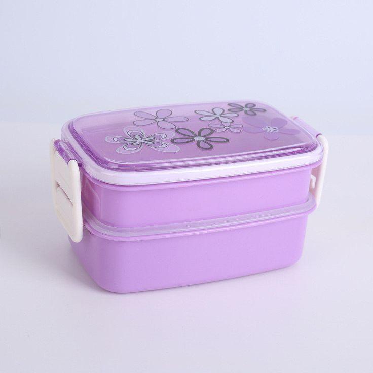 1200ml Microwave Plastic Lunch Box Picnic Food Container Storage 2-layer Lunch Box Food Container