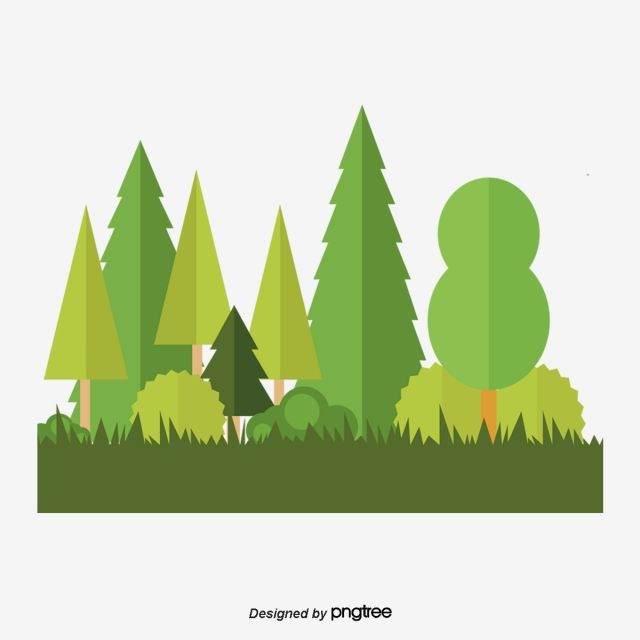Cartoon Green Forest Flat Woods Forest Png Transparent Clipart Image And Psd File For Free Download Colorful Backgrounds Wreath Illustration Geometric Background