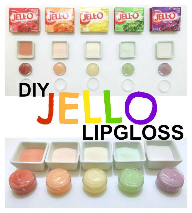 DIY Jello Lip Gloss {could work & be an interesting little item to have I suppose...?}
