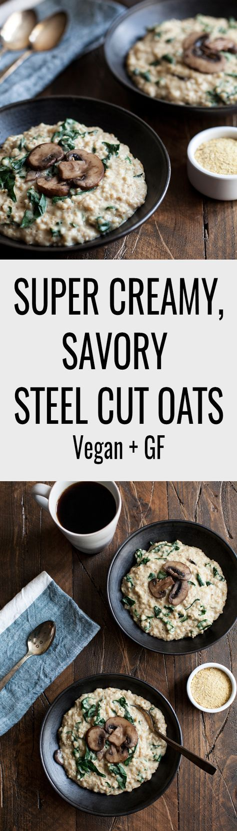 Super Creamy, Savory Steel Cut Oats | The Full Helping