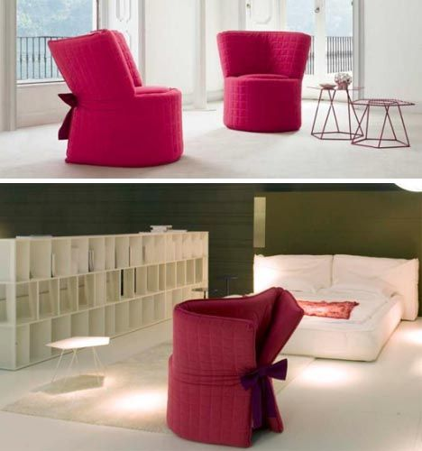 Perfect Chair Transforming Bed Design Images