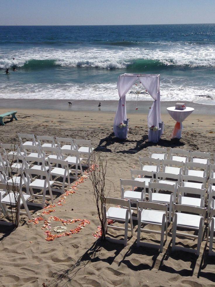 Beach Wedding decor. Get married in Oceanside. www.visitoceanside.org/weddings
