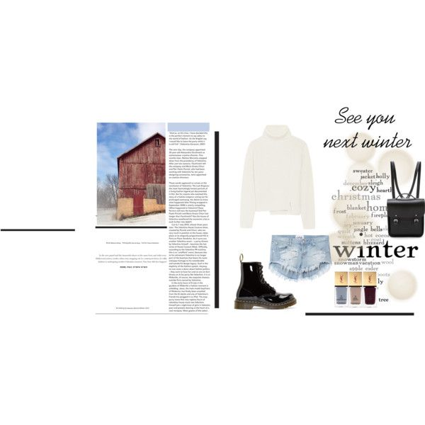 See you next winter by ljdia on Polyvore featuring polyvore fashion style Proenza Schouler One Teaspoon Dr. Martens The Cambridge Satchel Company Yves Saint Laurent Winter