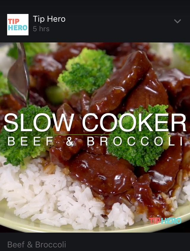 Tip Hero - on Facebook - slow cooker beef and broccoli !!