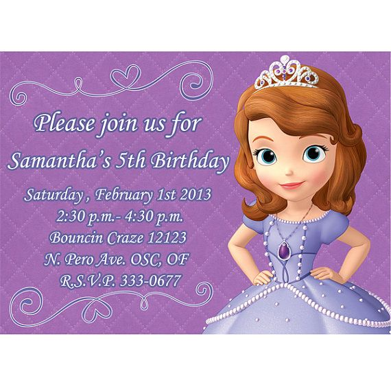 Birthday Quotes For Invitations: 165 Best Images About Princess Sofia Cakes/Party Ideas On