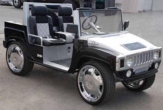 Custom Golf Carts- Hummer Golf Cart