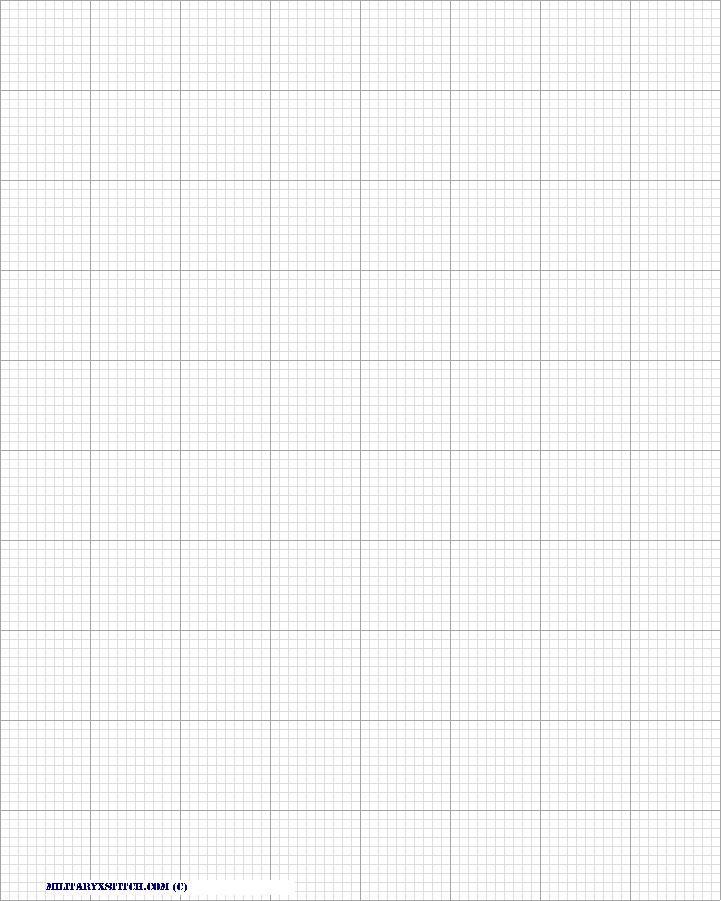 14 Count cross stitch grid