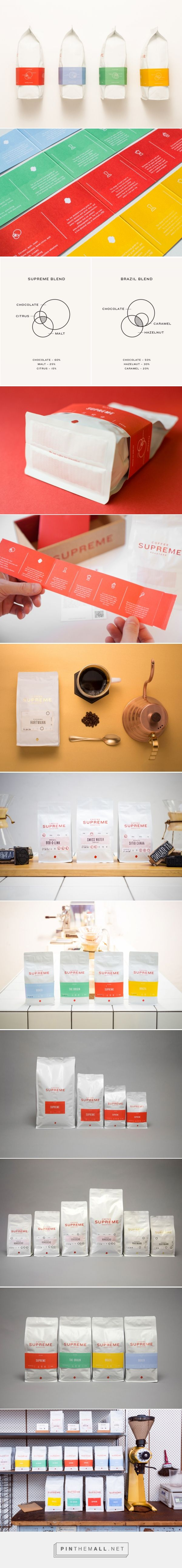 New Packaging for Supreme Coffee by Marx Design - BP&O - created via http://pinthemall.net