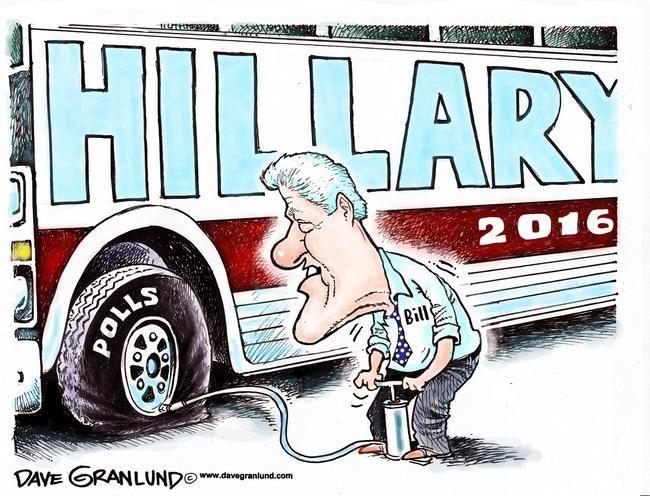 Granlund cartoon: Hillary polls and Bill: http://www.uticaod.com/article/20150930/NEWS/150939937/2011/OPINION