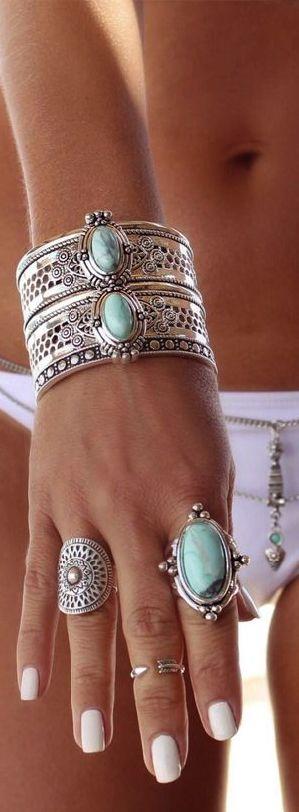 Boho jewelry style Www.Americanacool.com #americanacool                                                                                                                                                      Más                                                                                                                                                      Más