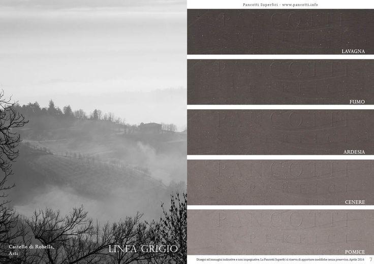 Linea Grigio | #lavagna #fumo #ardesia #cenere #pomice