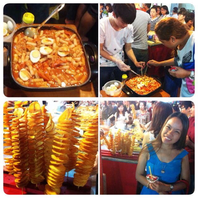 During night markets, Korean street food dominates the scene!  But the line of stalls is not as long as Jalan Makanan's in Singapore.  They have tteokbokki which tasted more authentic than Cafe Tiala's in Cebu and crunchy tornado potato artistically skewed in a stick, www.maryrosalieo.blogspot.com #Vietnam #tosomtravels #tosomeats #summer2015 #asia