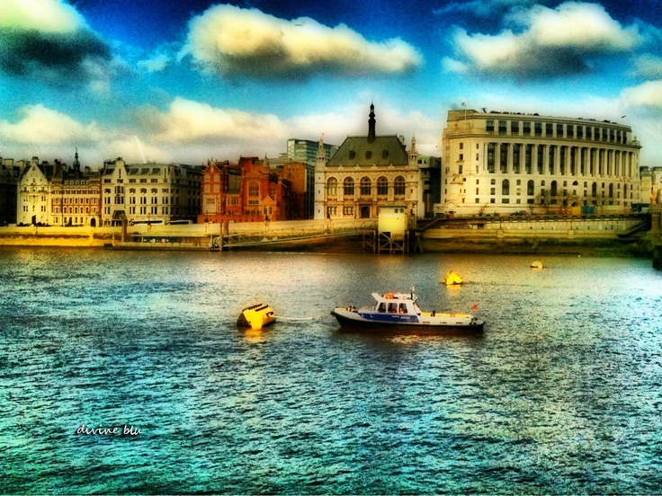 The River Thames - Manipulated on my iPhone using various apps