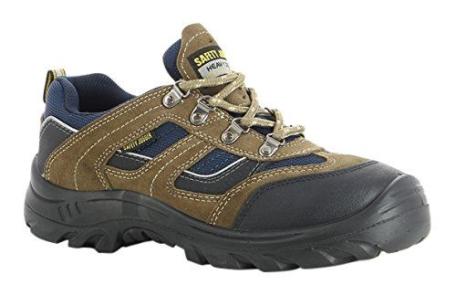 SAFETY JOGGER X2020P Men Hiking Style Safety Toe Lightweight EH PR Water Resistant Shoe, M 9, Brown/Navy