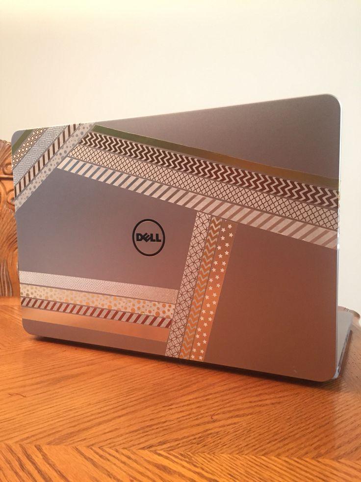 DIY washi tape laptop designs