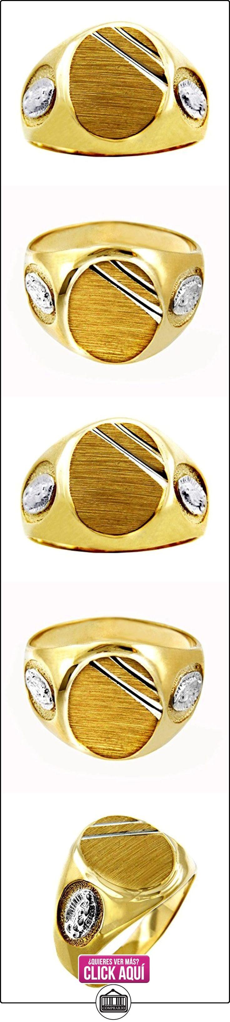 Pequeños Tesoros - Anillos Hombres 10 Kt Oro 471/1000 Femme De Guadalupe 2 Colores Sortija De sello  ✿ Joyas para hombres especiales - lujo ✿ ▬► Ver oferta: http://comprar.io/goto/B012780WK0