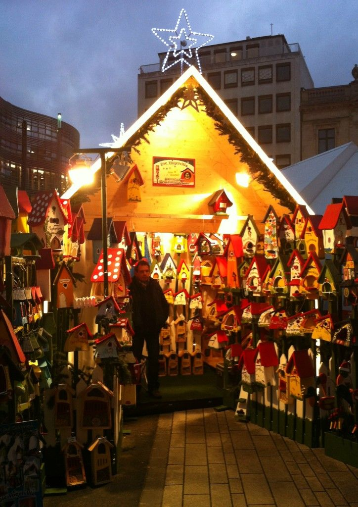 A Chalet at the Dusseldorf Christmas Market in Germany