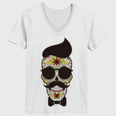 sugar skull tattoo shirt