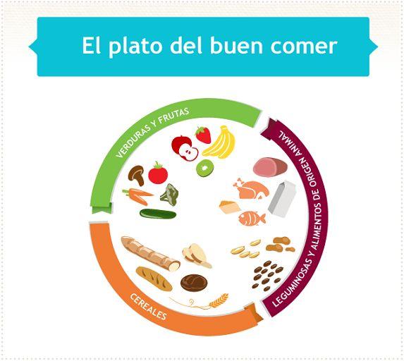 El plato del buen comer, es una guía de los alimentos que debemos consumir