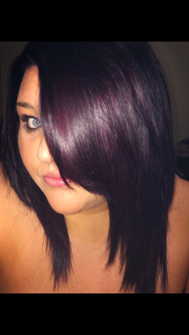 my new hair ! fav color :) plum black