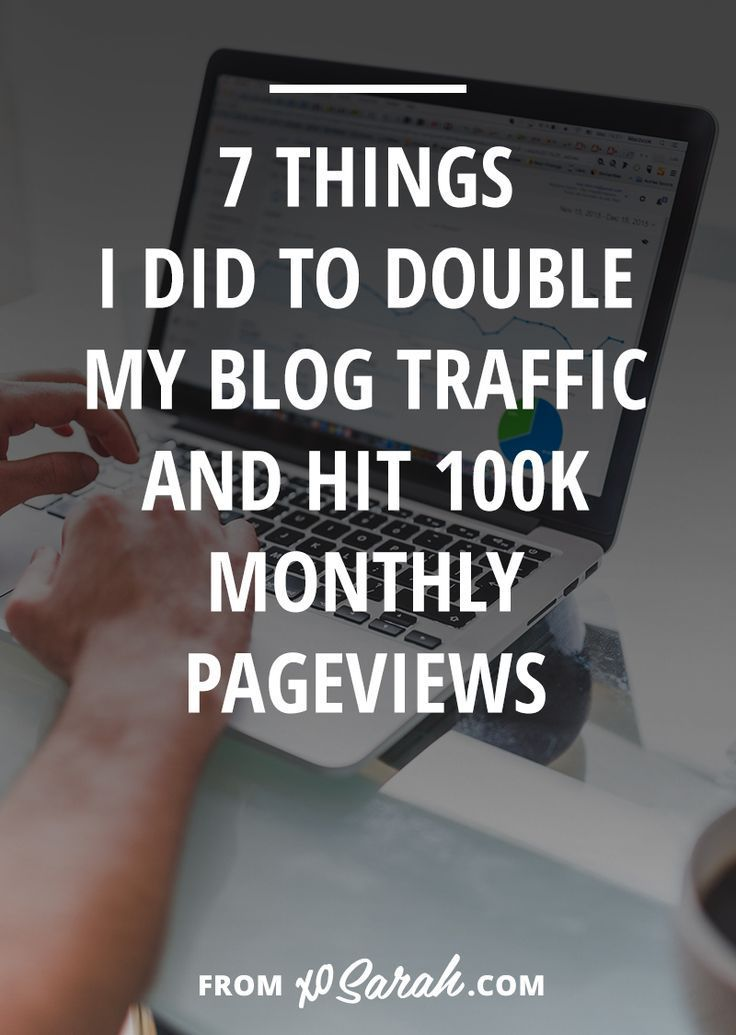 After years of blogging I finally hit 100k monthly pageviews, so I'm sharing my strategy for content creation and the 7 things I did this year to make it happen.