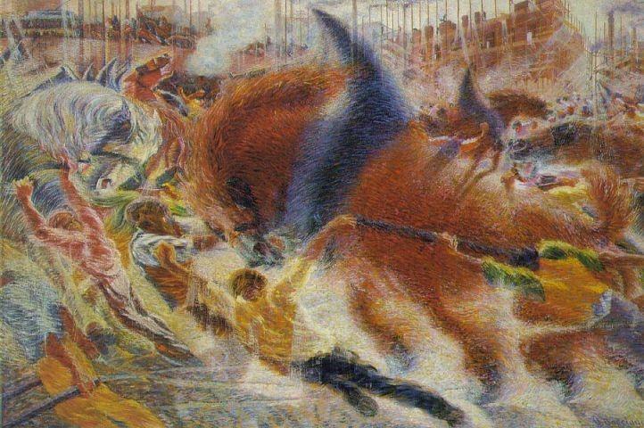 "Umberto Boccioni ""La ciudad emerge"", 1910-11, MoMA"