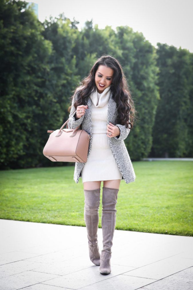 classy winter dress outfit