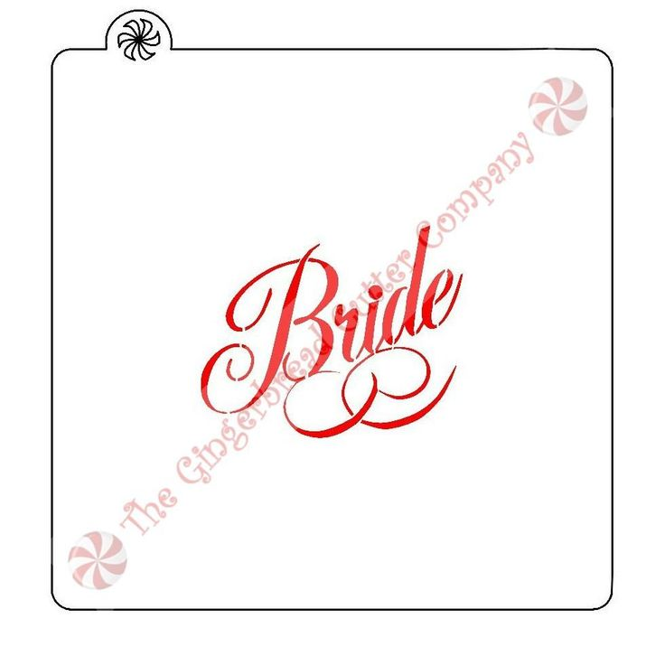 Bride Cookie Stencil