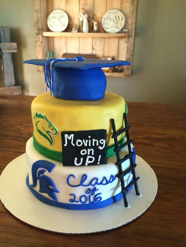 Graduation cake! High school moving on up to college!