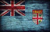 Bandera de fiyi patrón de textura de madera, vintage retro de