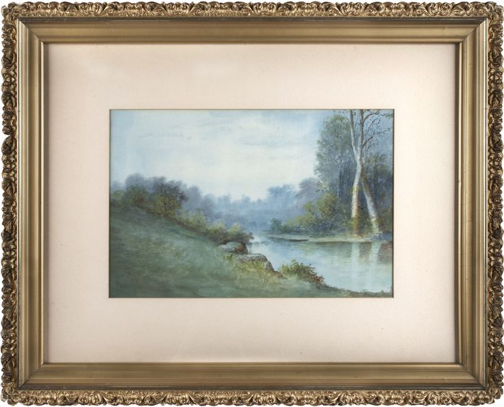 River Scene,Will T. Hunleigh, watercolor on paper, 1880-1910, Georgetown.
