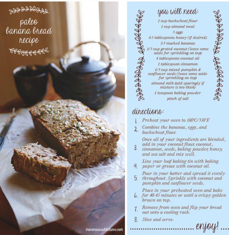 Paleo Banana Bread - A guilt-free treat   Move Nourish Believe from Lorna Jane!