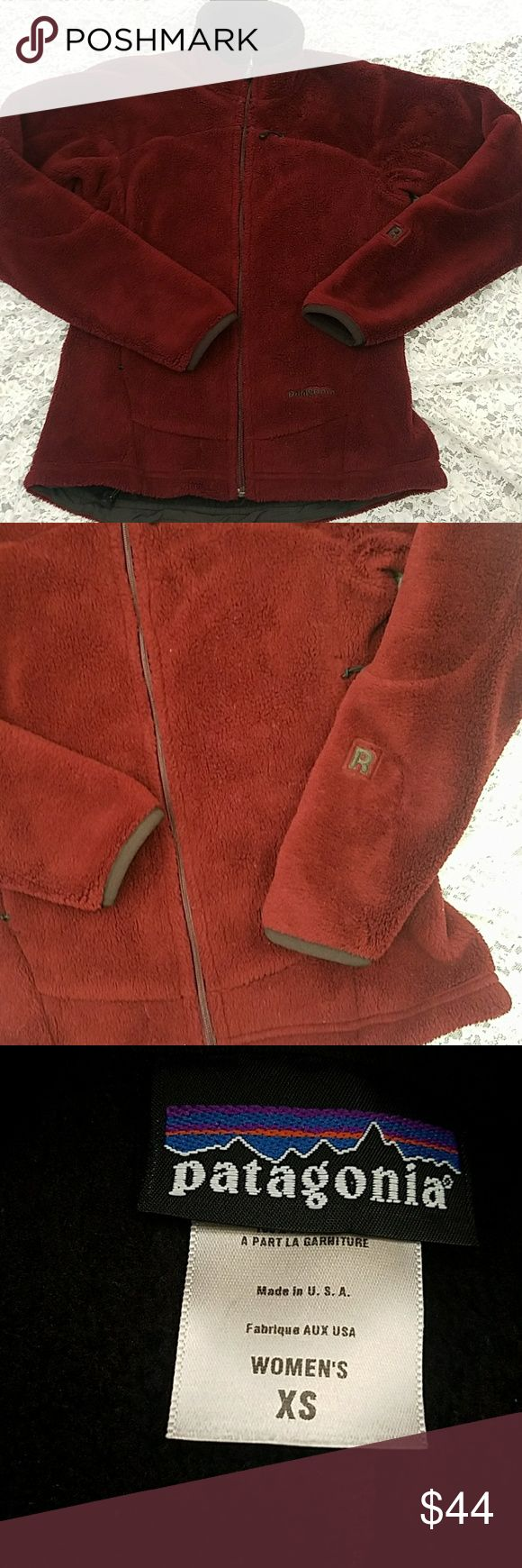 Patagonia zip rusty red fleece jacket XS Up for sale is a lightly-used soft furry jacket that measures 17 inches across the chest and 23.5 inches long Patagonia Jackets & Coats