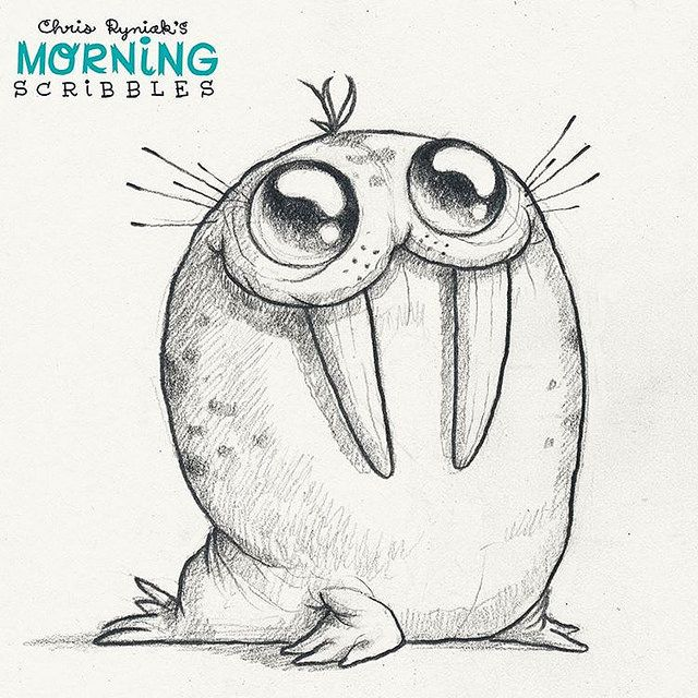 Spotty Walrus!  #morningscribbles | von CHRIS RYNIAK