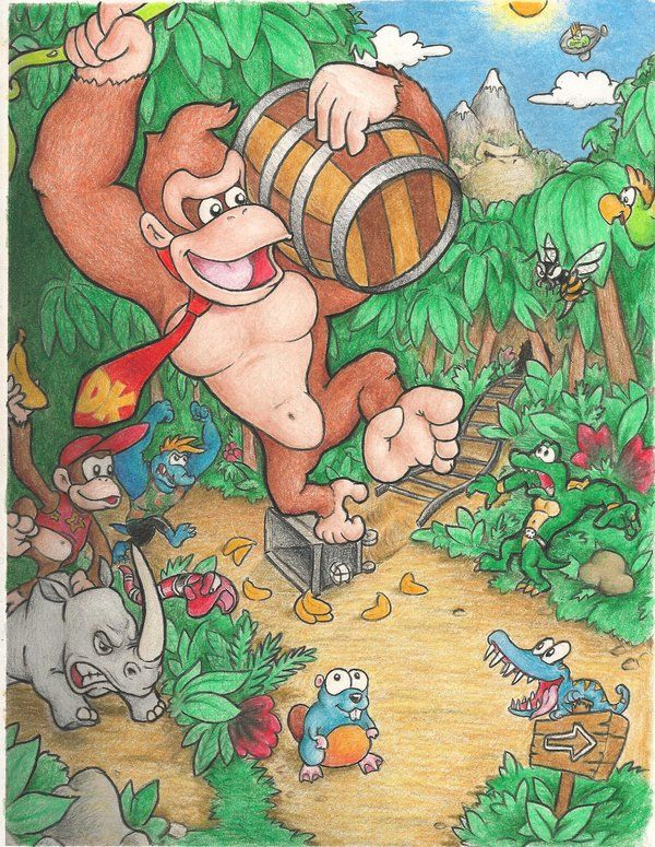 Donkey Kong Country by mattdog1000000.deviantart.com on @deviantART