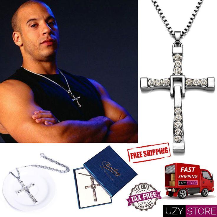 Vin Diesel Sterling Silver Jesus Chain Necklace Cross Pendant Fast and Furious #vindiesel #vindieselnecklace #crossnecklace #fastnfurious
